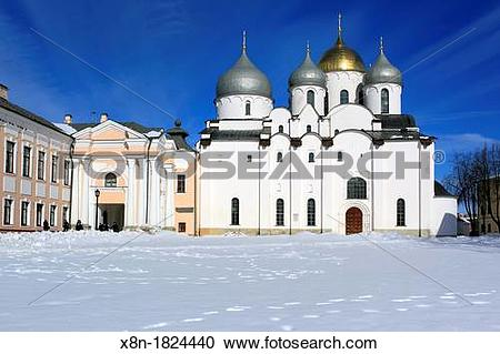 Stock Photography of Saint Sophia Cathedral 1045, Veliky Novgorod.