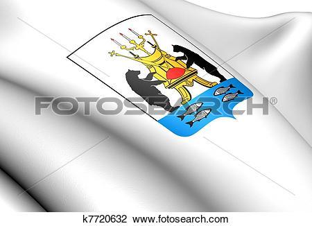 Clip Art of Veliky Novgorod coat of arms, Russia. k7720632.
