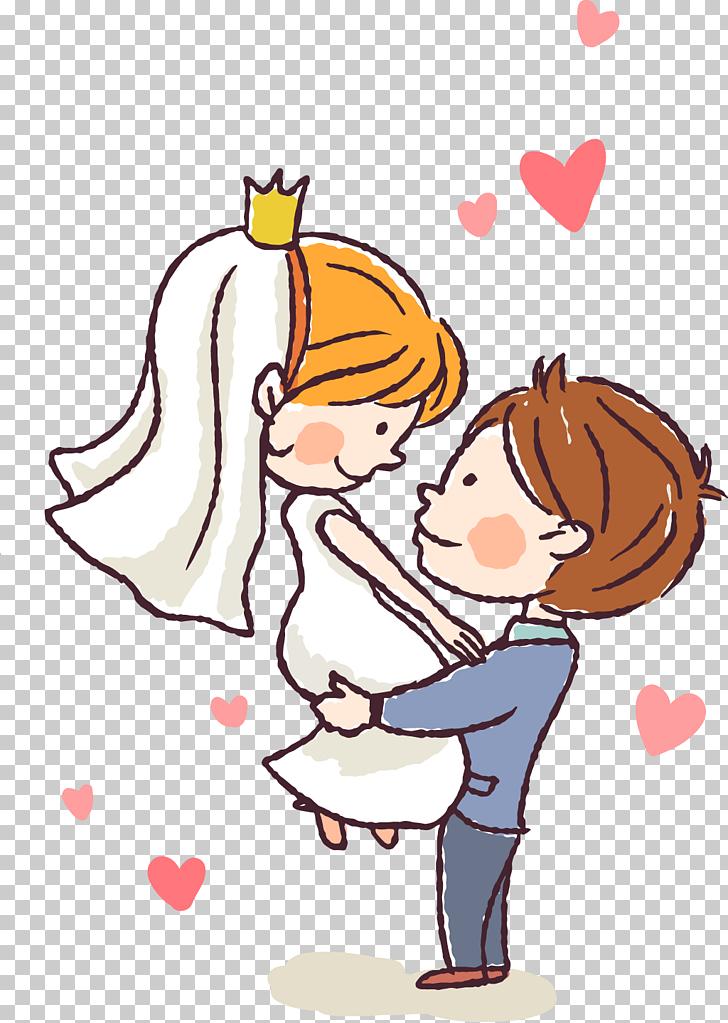 Pareja casada, boda del novio, novios y caricatura PNG.