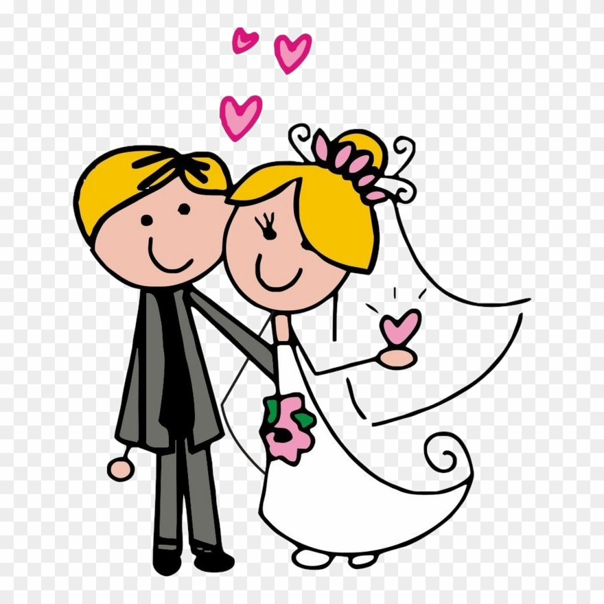 Dibujos Digi Stamps Wedding Novios Boda.