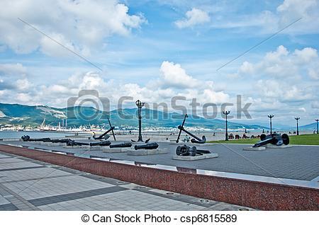 Stock Photographs of The embankment of Novorossiysk, Russia.