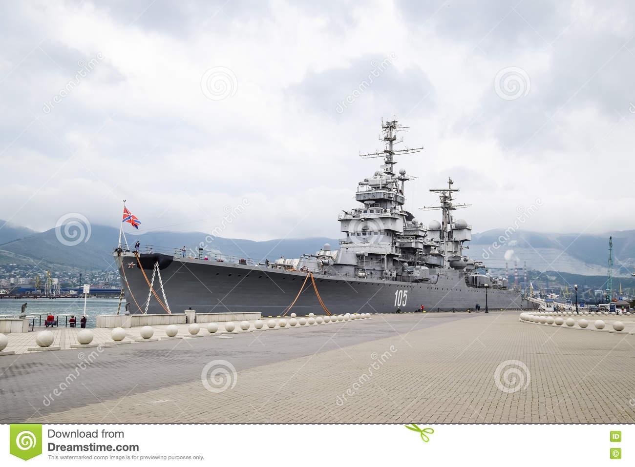 The Warship In The Port Of Novorossiysk Editorial Stock Photo.