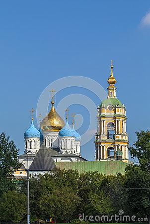 Novospassky Monastery, Moscow, Russia Stock Photo.