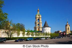 Stock Photography of Novospassky monastery.