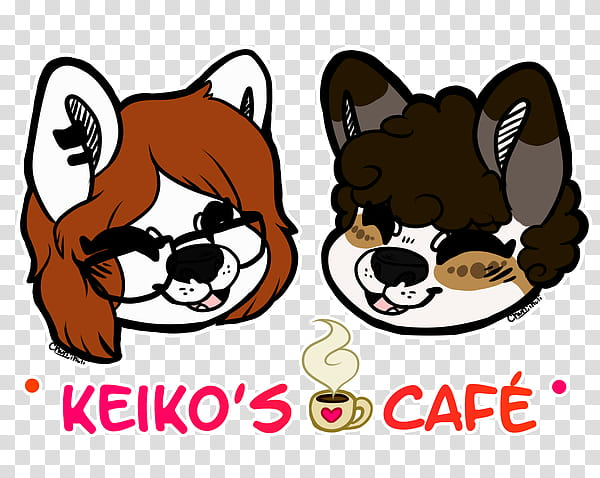 KEIKO&#;S CAFE Merch Available NOW transparent background.