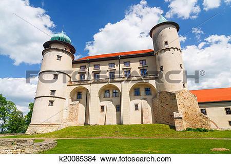 Stock Photo of View of Nowy Wisnicz castle, Poland k20085384.