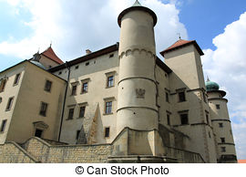 Pictures of Nowy Wisnicz castle.
