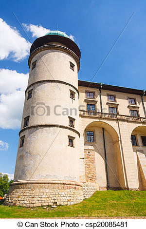 Pictures of View of Nowy Wisnicz castle, Poland csp20085481.