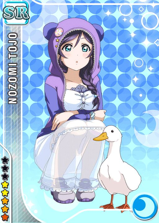 it looks like nozomi has never seen a goose.