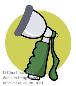 A Hose Spray Nozzle Clipart Image.