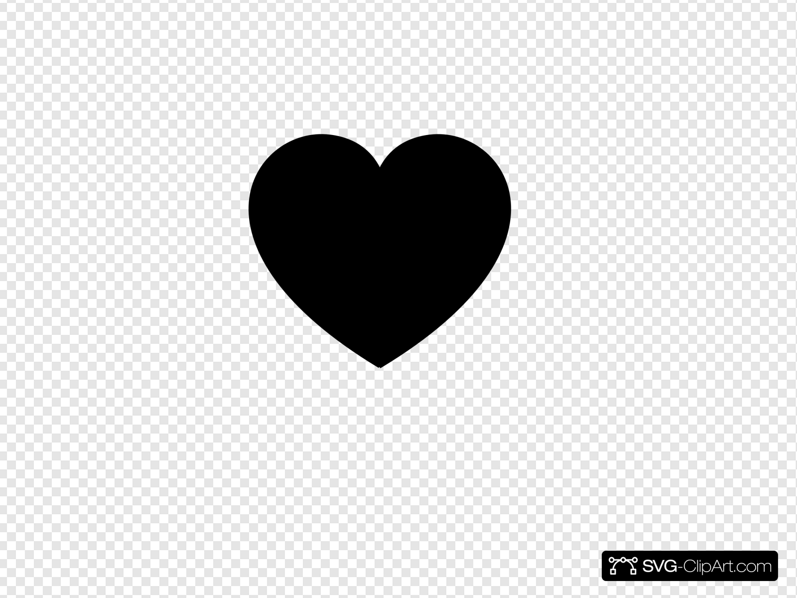 Black Heart Clip art, Icon and SVG.