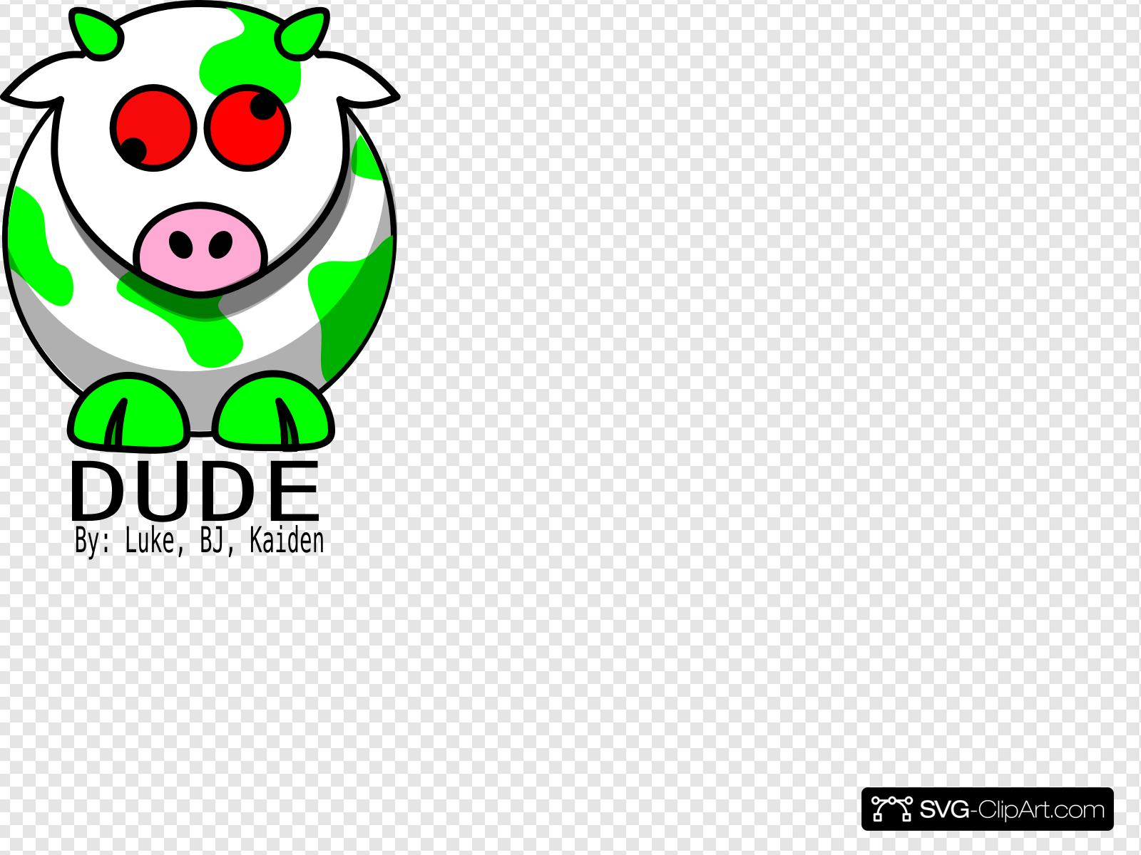 Green Cow Clip art, Icon and SVG.