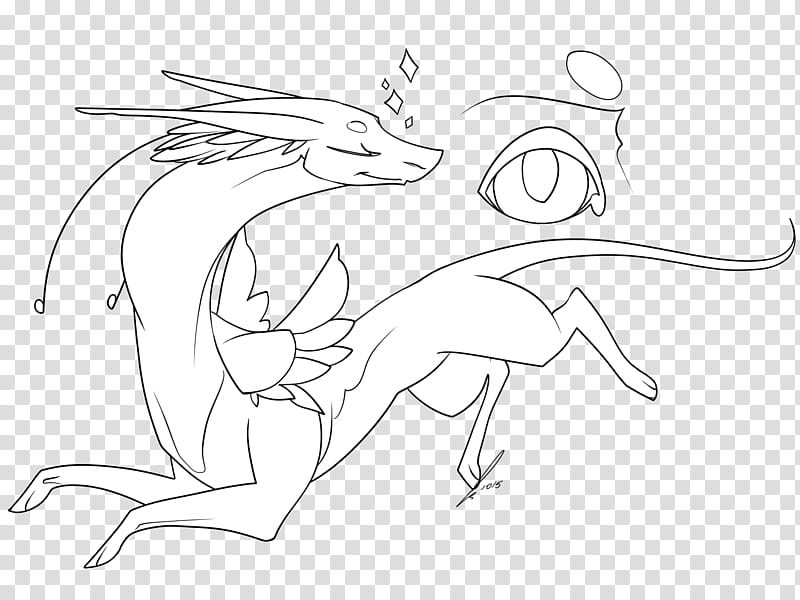 Fantasy Dragon Lines NPF, white.