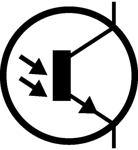 Electronic Phototransistor Npn Circuit Symbol clip art Free Vector.