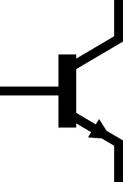 Npn Transistor Symbol Alternate Clip Art at Clker.com.