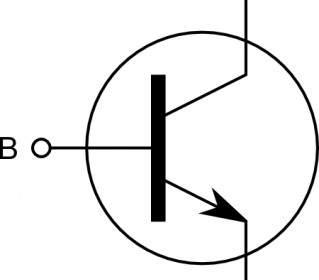 Npn Transistor Symbol Alternate Clip Art.