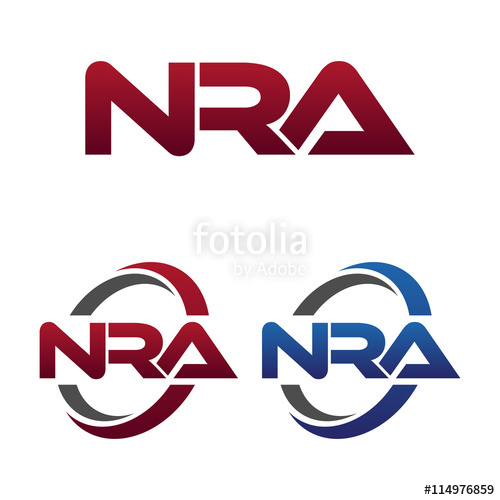 Modern 3 Letters Initial logo Vector Swoosh Red Blue nra.