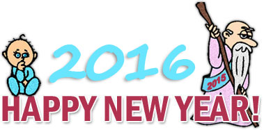2016 New Years Clipart.