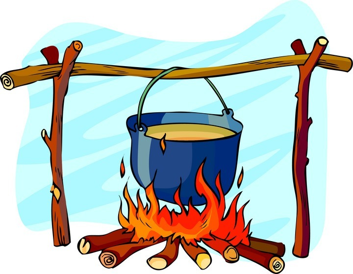 Campfire Cooking Clipart.