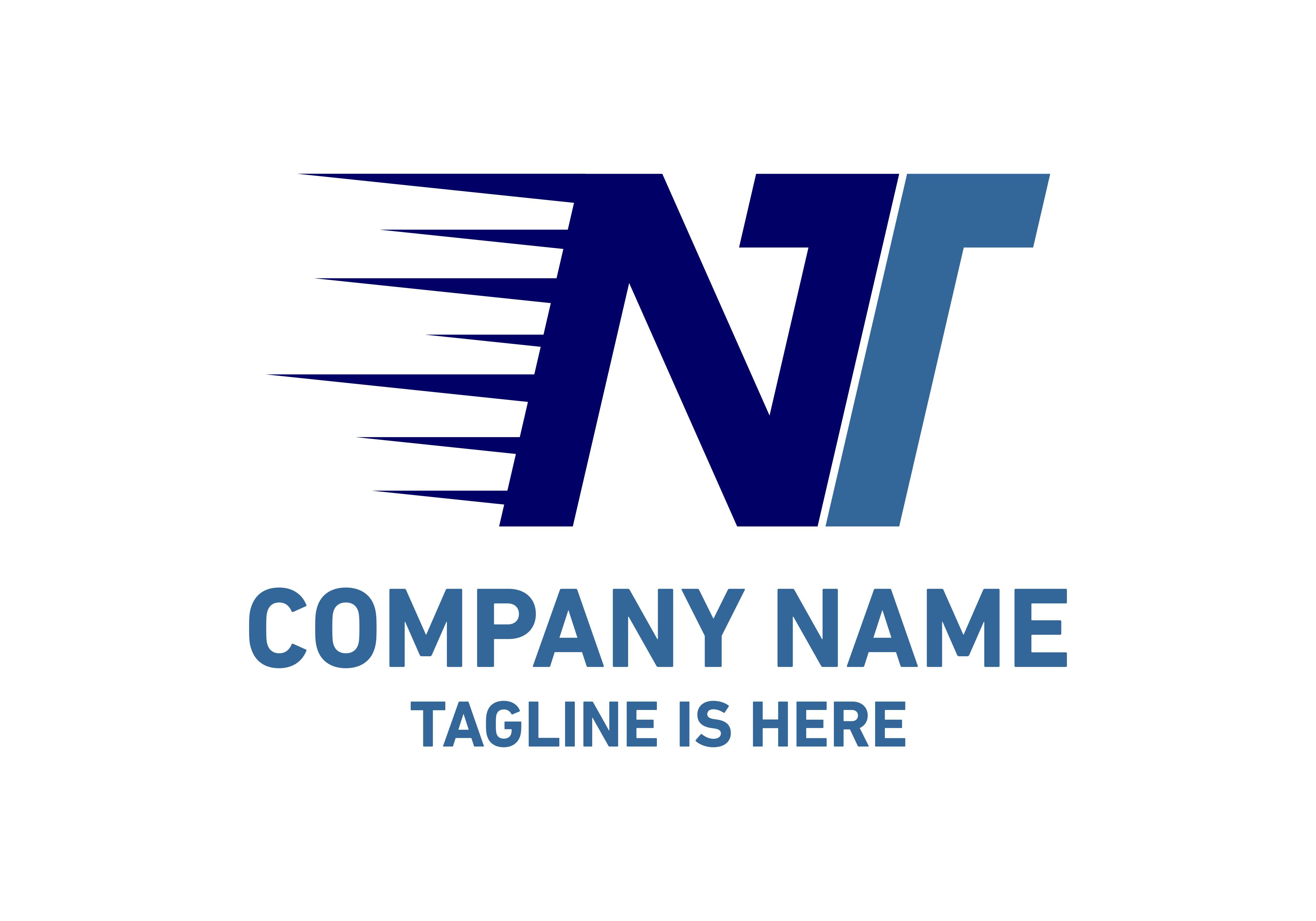 Letter NT logo.