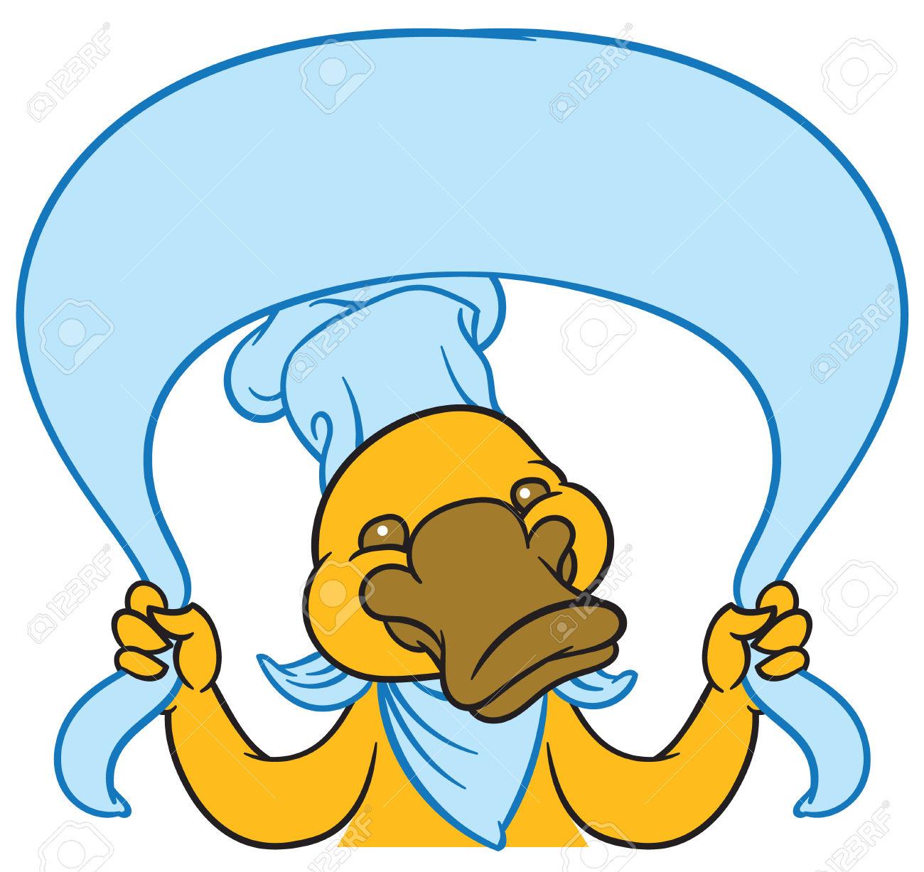 Lustige Glückliche Cartoon Platypus Oder Entenschnabel.