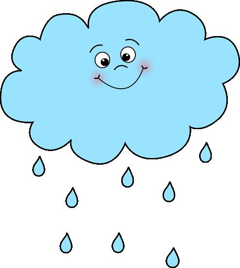 Nuage de pluie joyeux.