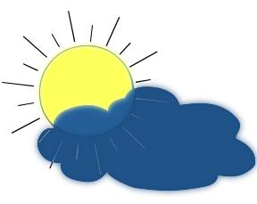 Clipart soleil nuage.