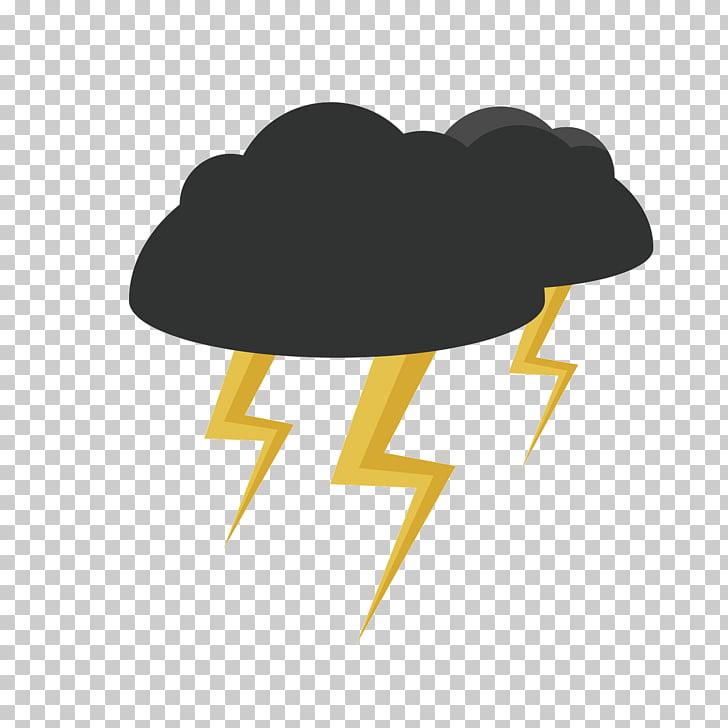 Nubes negras PNG Clipart.