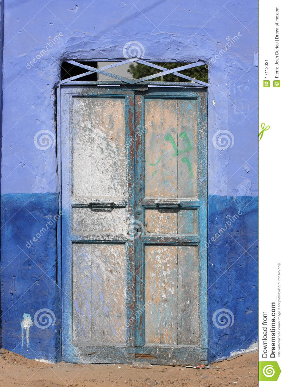 Door In A Nubian Village Stock Image.