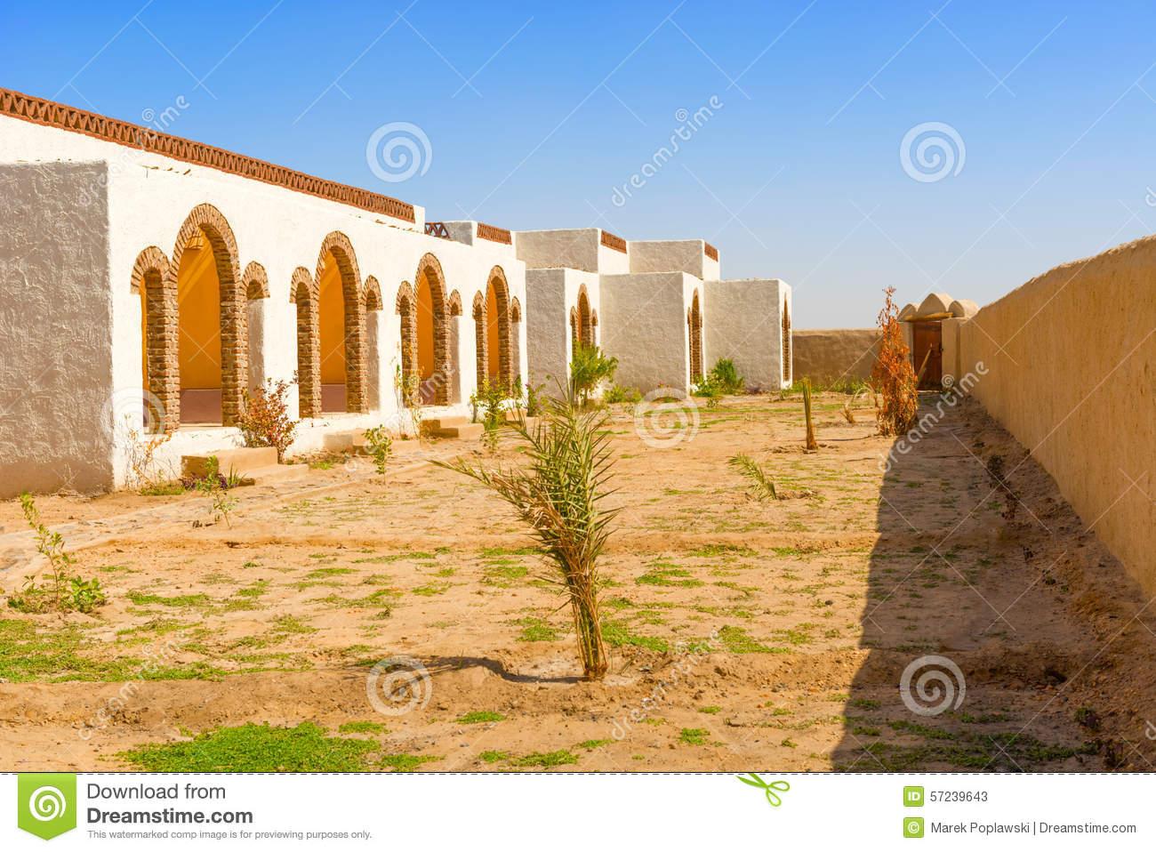 Nubian Village In Sudan Stock Photo.