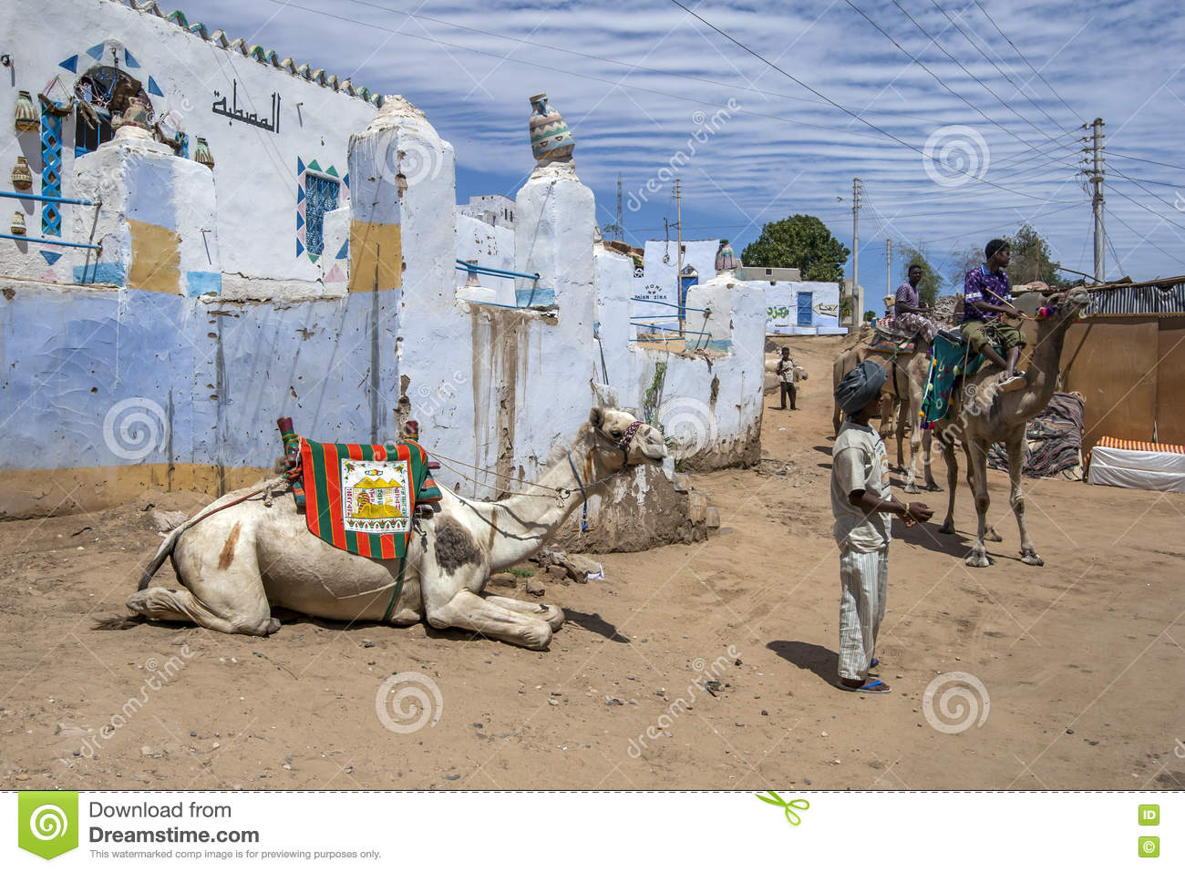 The Nubian Village In Aswan, Egypt Editorial Photo.