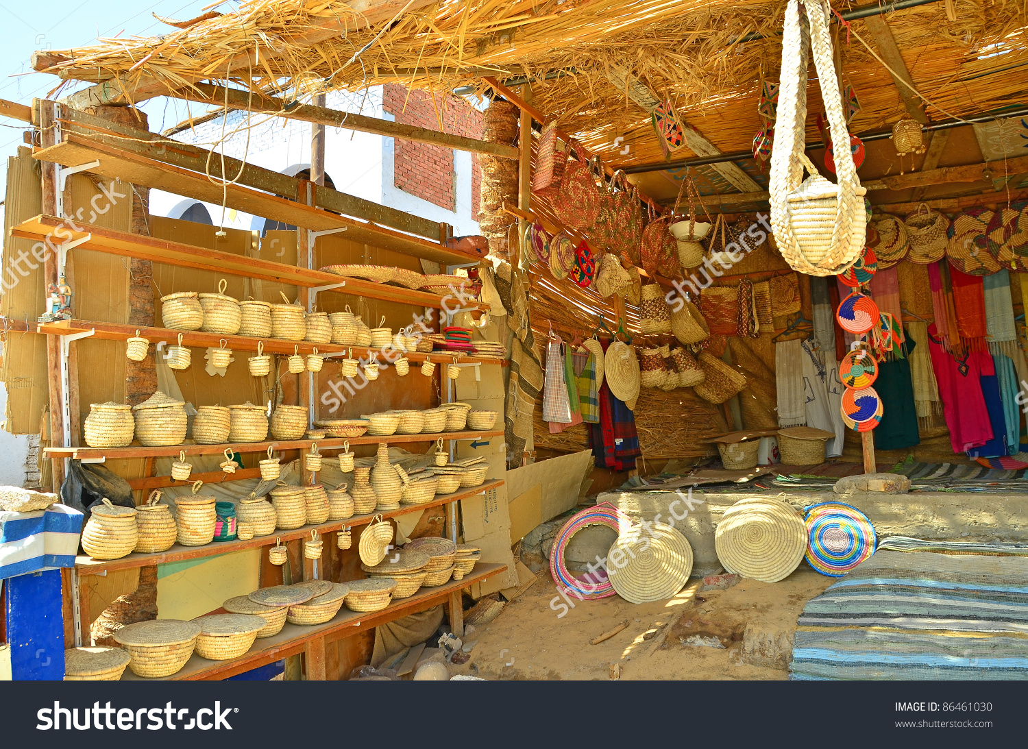 Souvenir Stand Nubian Village Egypt Aswan Stock Photo 86461030.