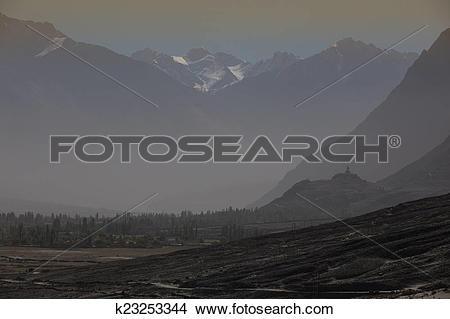 Stock Photo of Nubra Valley in Ladakh k23253344.