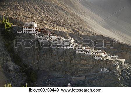 "Stock Photograph of ""Diskit Monastery or Deskit Gompa, Nubra."