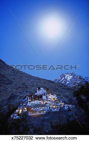 Stock Photo of India, Ladakh, Nubra valley, Diskit Monastery.