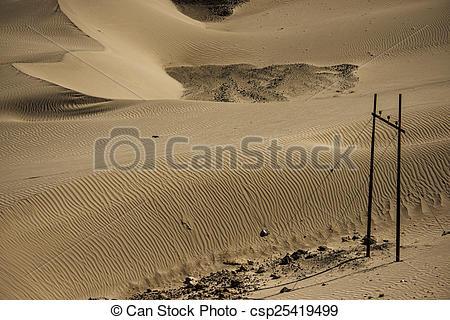 Stock Photographs of Sand Dune in Nubra Valley Leh Ladakh ,India.