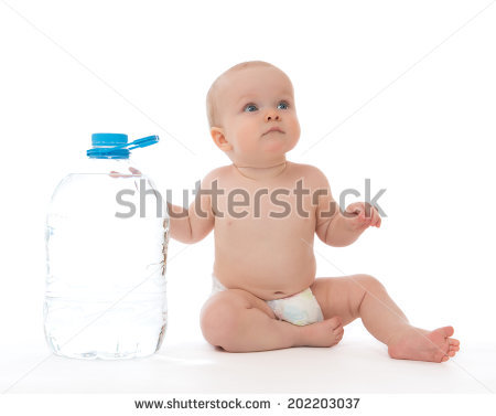 Infant Child Baby Toddler Sitting Drinking Stock Foto 222833497.