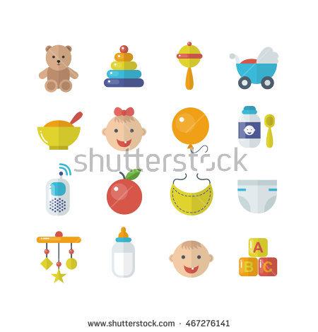 Baby Icons Set Stock.