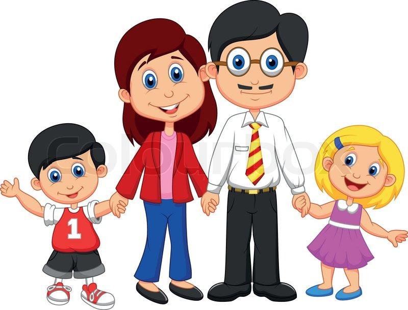 Nuclear Family Clipart.