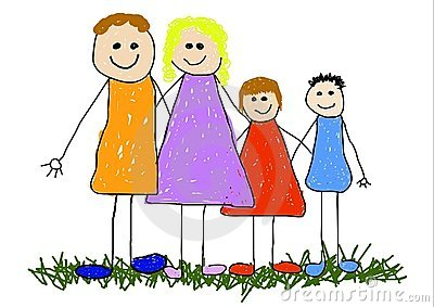 Nuclear Family Stock Illustrations.