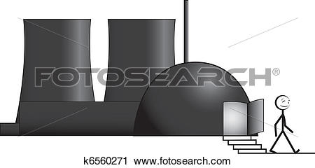 Clipart of nuclear phase.