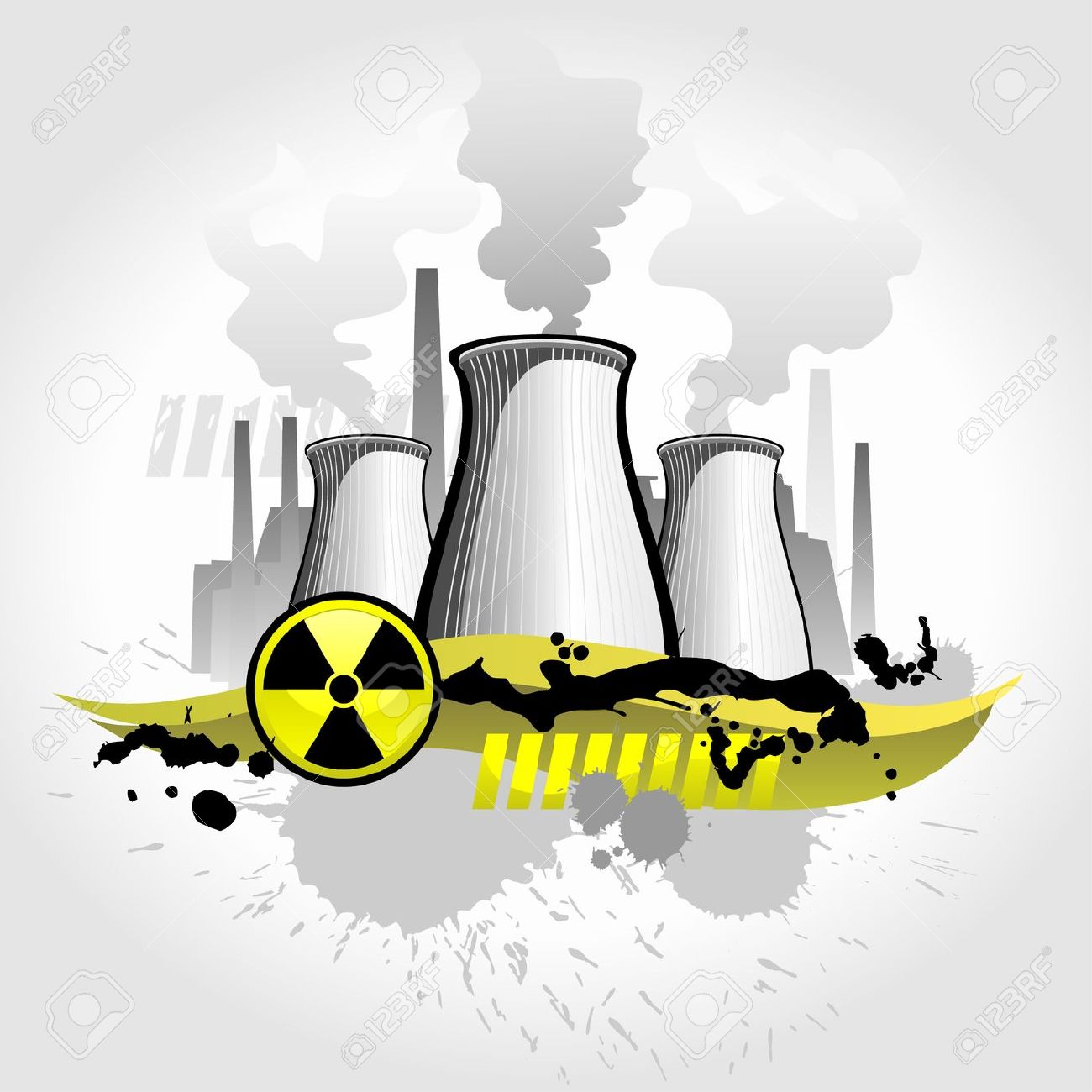 Nuclear Plant Abstract Background Royalty Free Cliparts, Vectors.