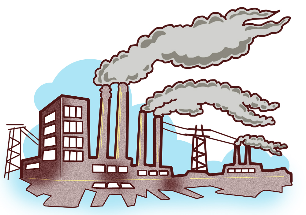 Coal Power Plant Clip Art.