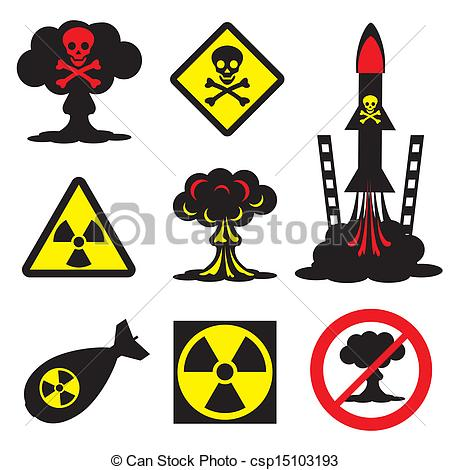 EPS Vectors of radiation hazard.