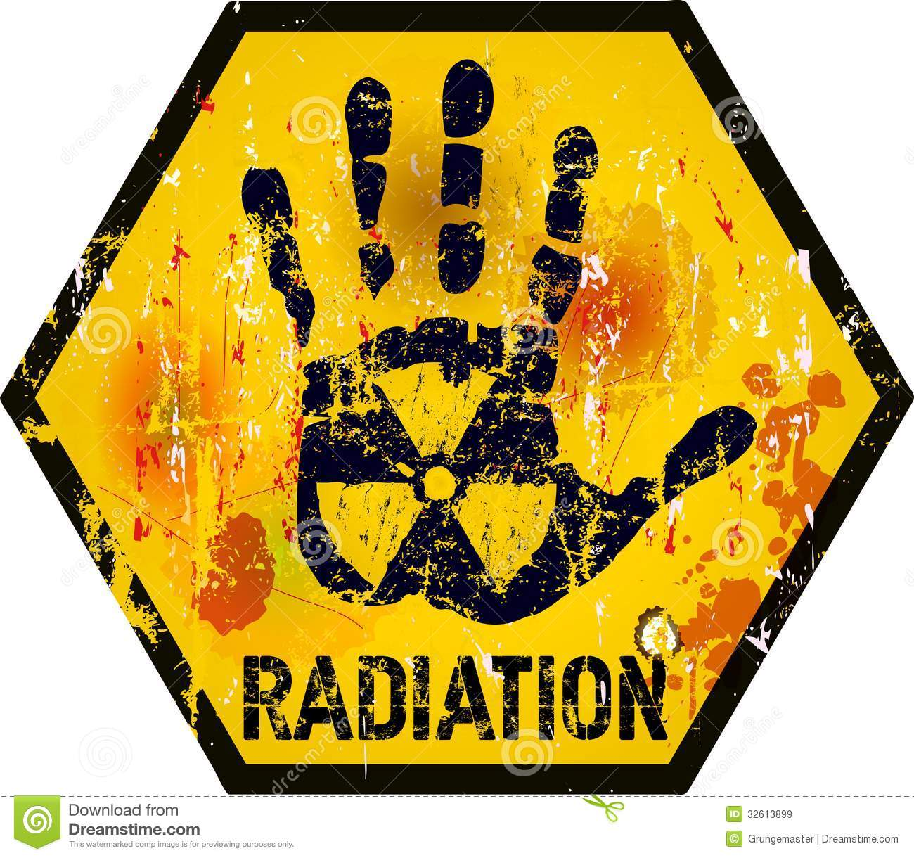 Nuclear Radiation Royalty Free Stock Images.