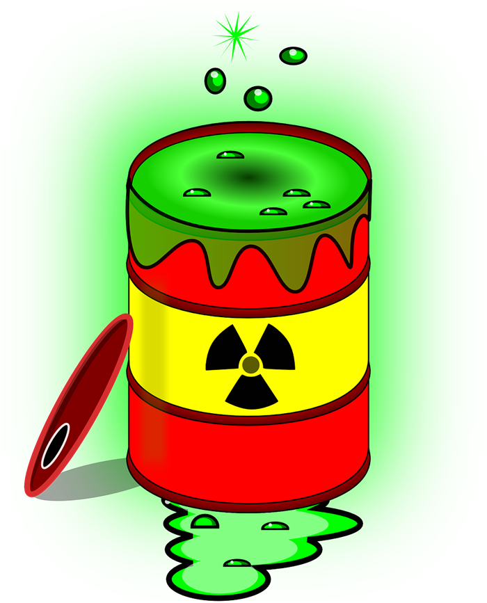 Radioactive waste clipart.