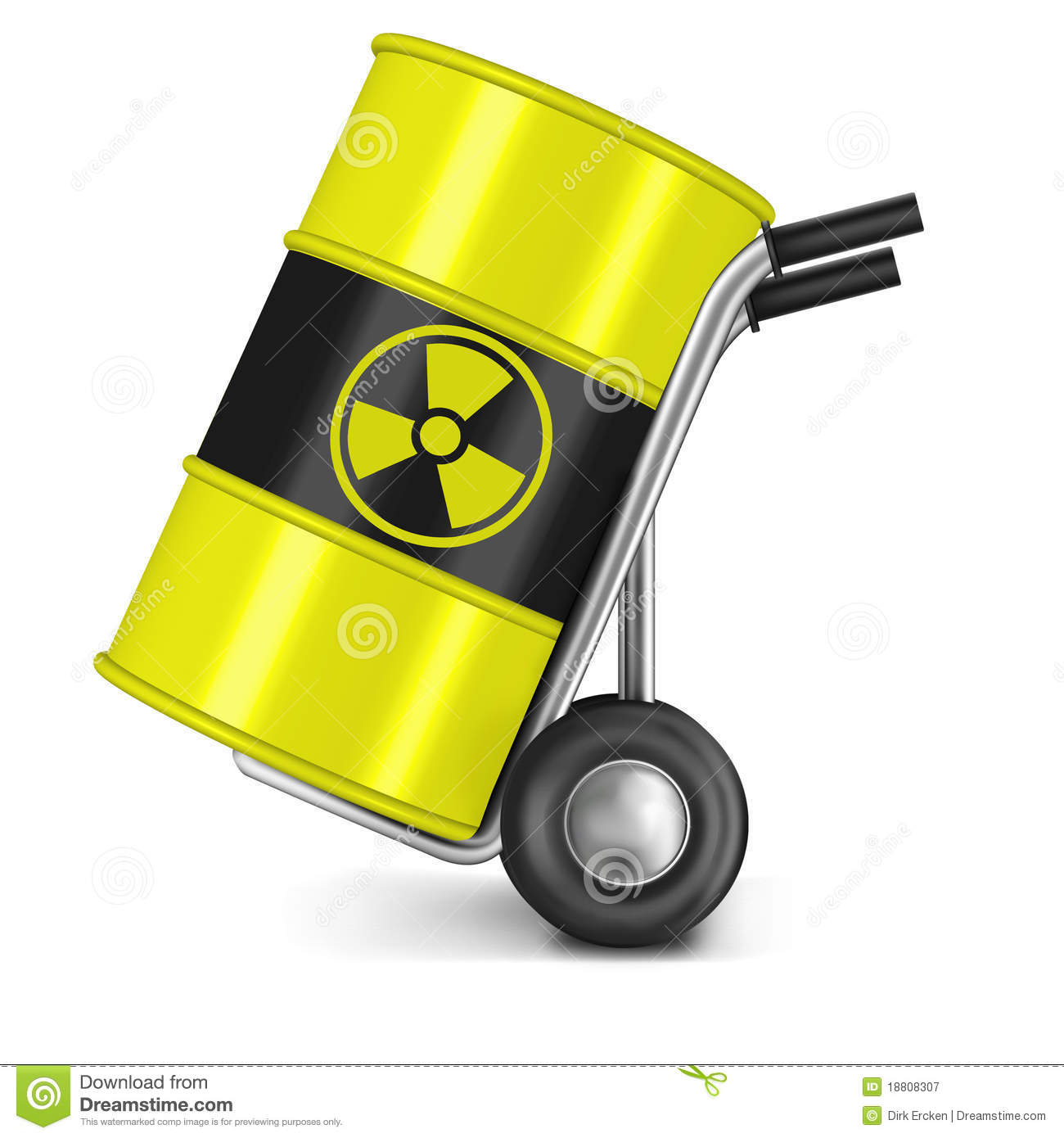Barrel Nuclear Waste Pollution Risk Radioactive Stock Photography.