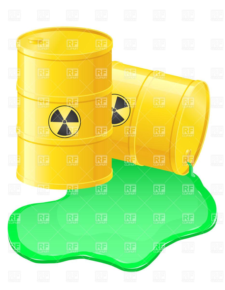 Radioactive waste clipart blackand white.
