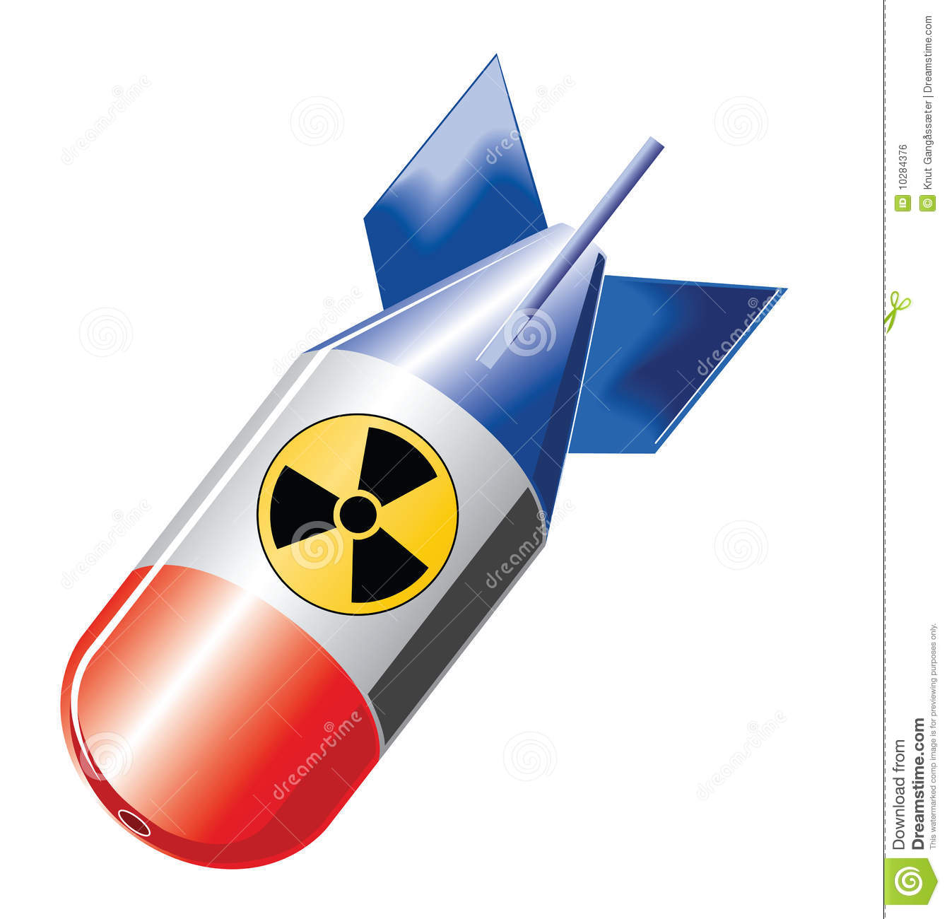 Nuclear Bomb Royalty Free Stock Image.