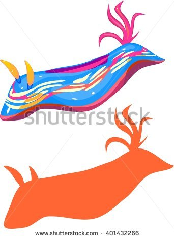 Nudibranch Cartoon Stock Photos, Royalty.
